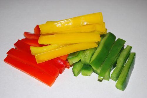 sliced peppers vegetable