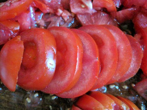 Sliced Ripe Tomato