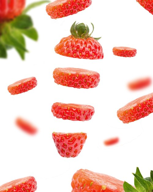 sliced strawberries  strawberries-rich  fruit game