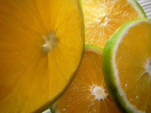 slices orange fruit