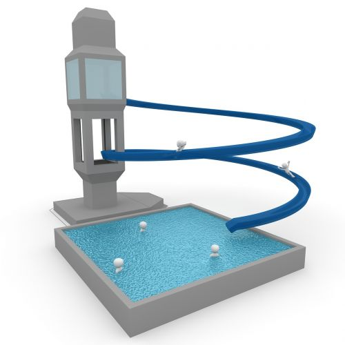 slide swimming pool pleasure