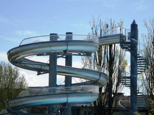 slide water slide swimming pool