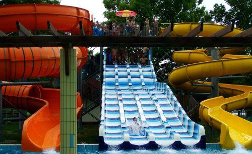 slide bathe summer