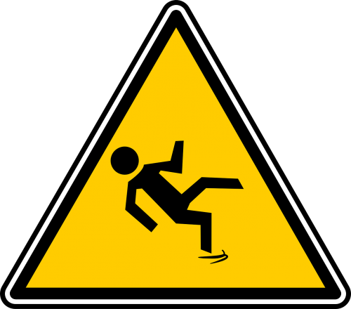 slippery wet caution