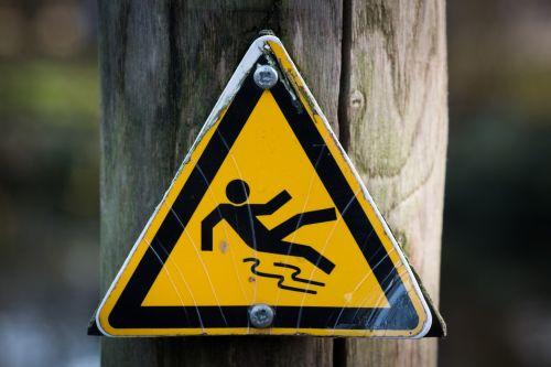 slippery signal sign