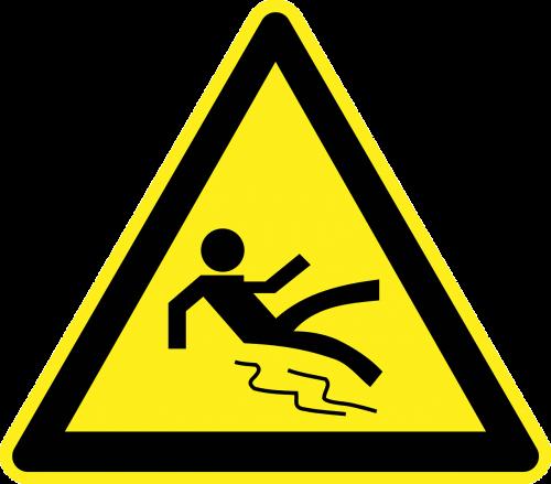 slippery wet floor danger