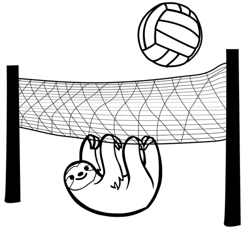sloth  volleyball  game