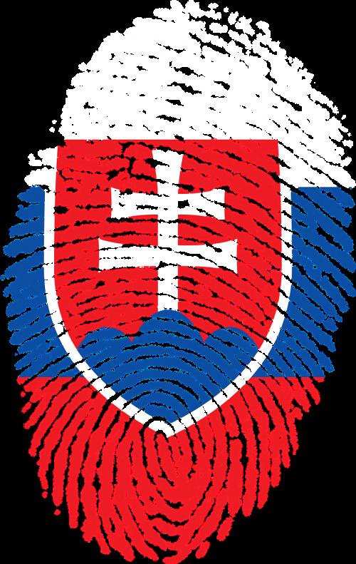 slovakia flag fingerprint