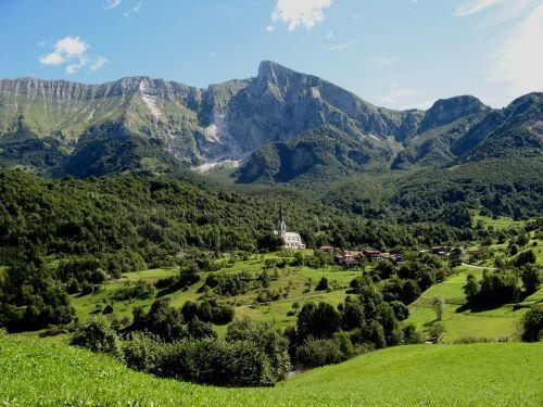 slovenia church landscape