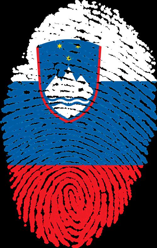 slovenia flag fingerprint
