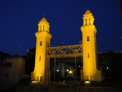 Sluice Gate At Night