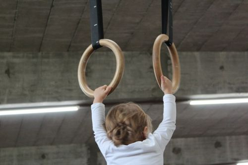 small child sports equipment rings