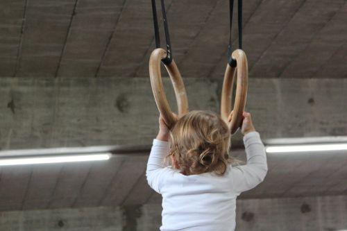 small child ring gymnastics