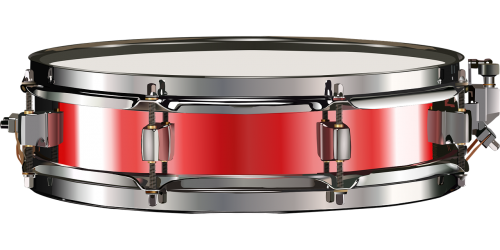 small drum snare drum red
