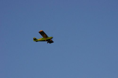 Small Green Vintage Airplane