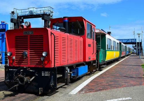 small ground island railway loco