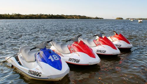 Small Personal Watercraft Parked