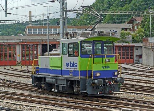 small shunting engine  bls  depot