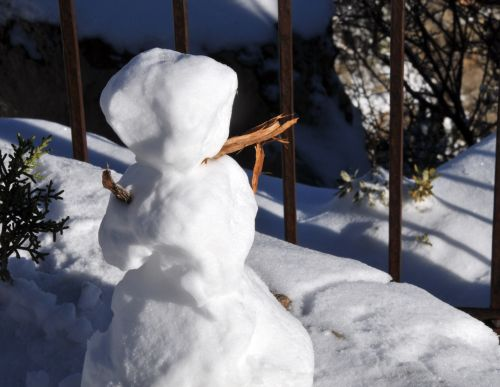 sniego senis, mažas & nbsp, sniego žmogus, sniegas, žiema, šventė, mažas sniego žmogus