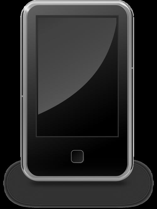 smartphone black mp3 player