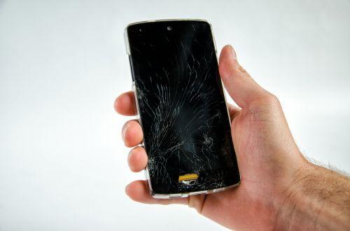 smartphone broken damaged
