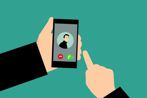 smartphone  call  answer