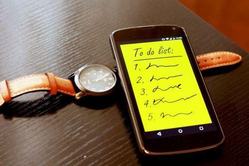 smartphone to do list to do