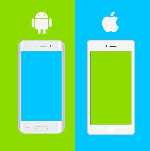 smartphones mockups apple