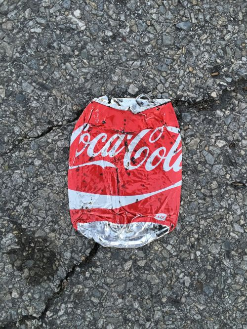 smashed can soda