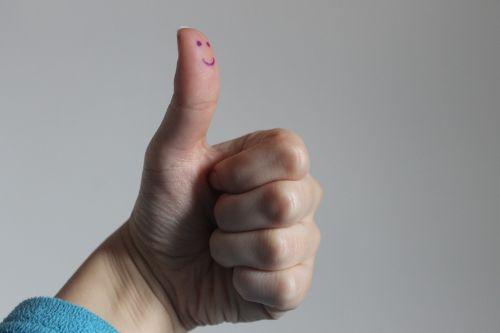 smile fist finger