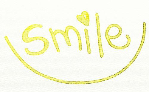 smile text yellow