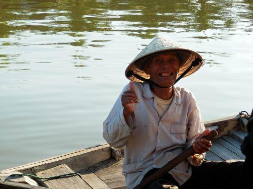 smile fisherman river