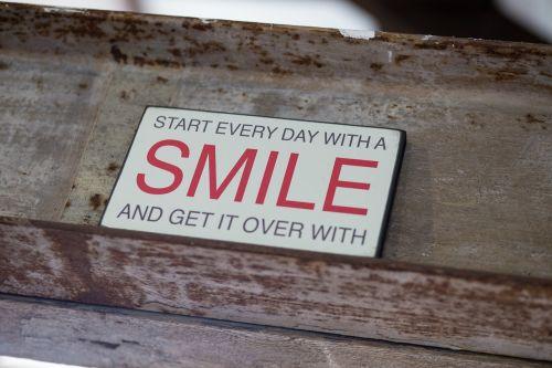 smile sign metal