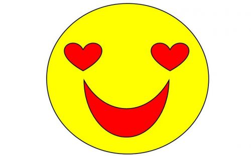 smile icon heart