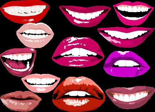 smile lips make up