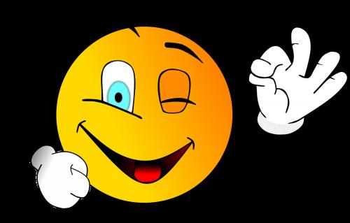 smile smiley wink