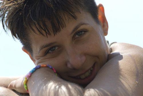 smile girl sun