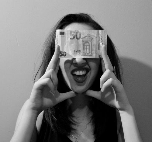 smile woman ticket