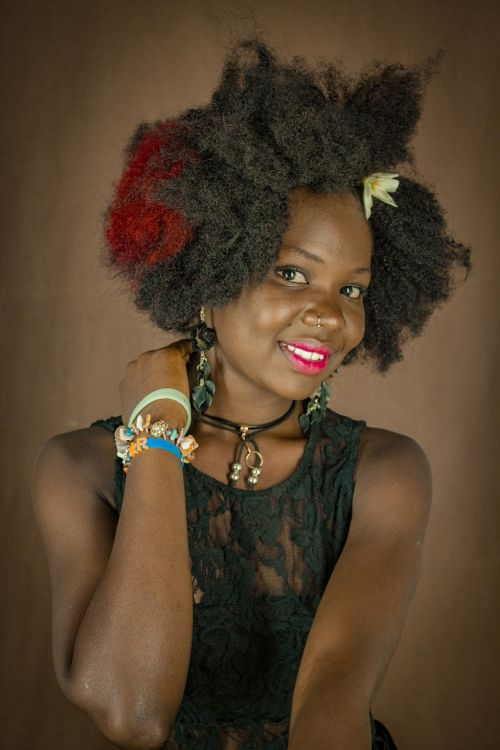 smiles african lady