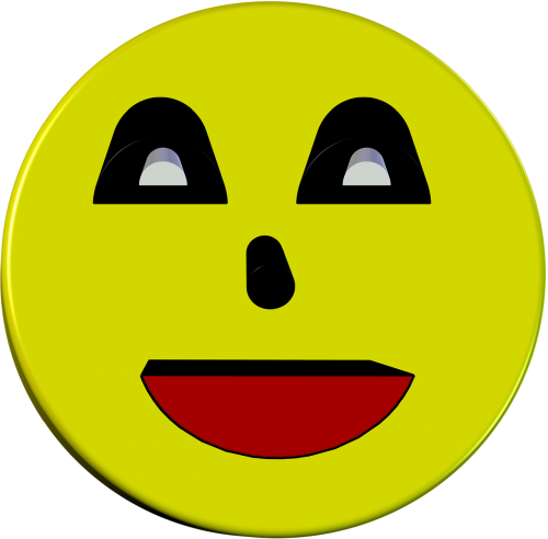 smiley 3d yellow