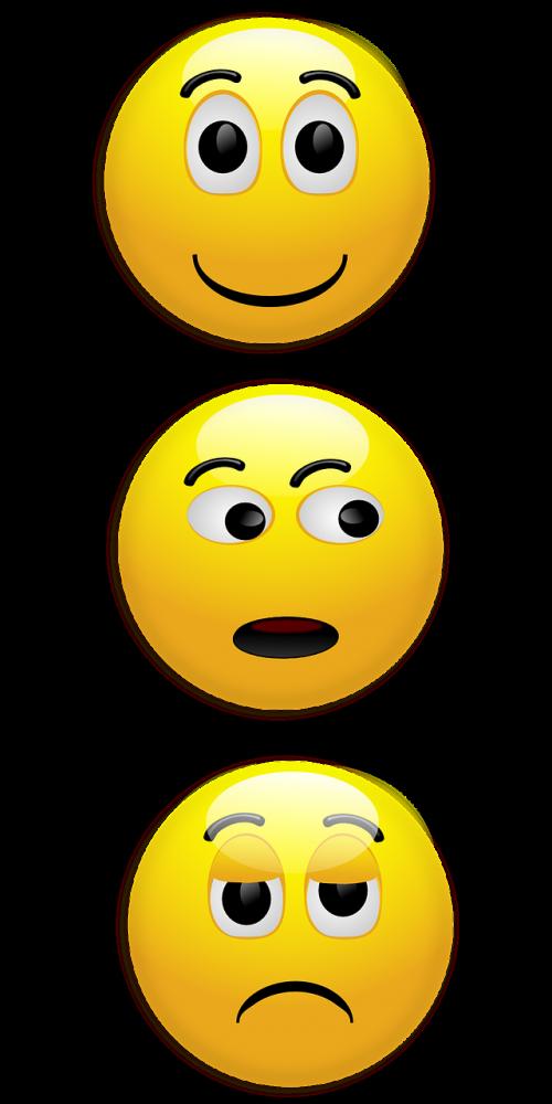 smiley happy unhappy