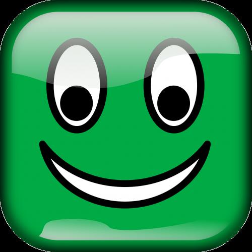 smiley green glossy