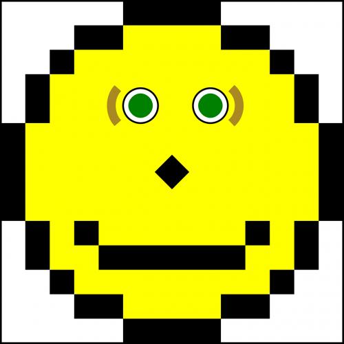 smiley pixels emoticon