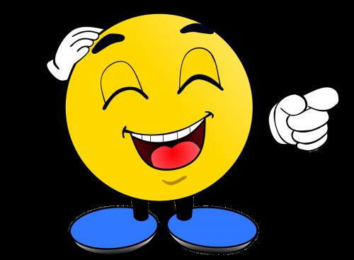 smiley laugh at humor