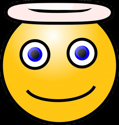 smiley angel symbol
