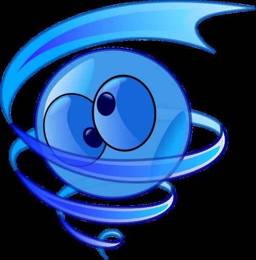 smiley splash swirl