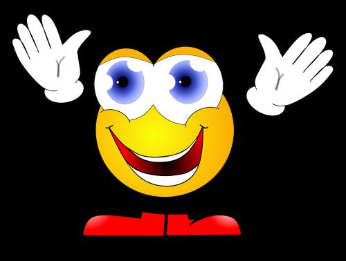 smiley joy embrace