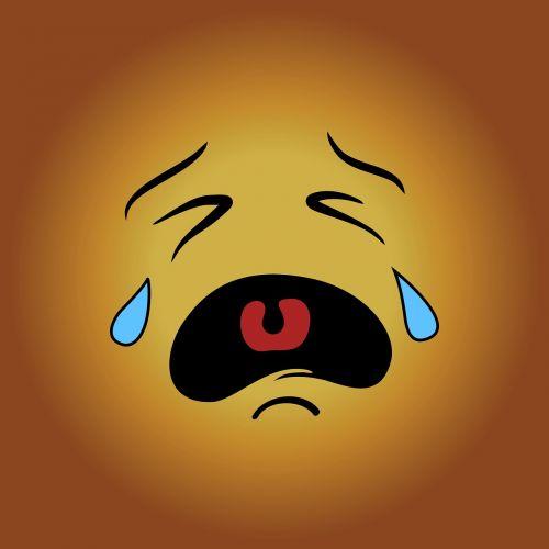 smiley sad cry