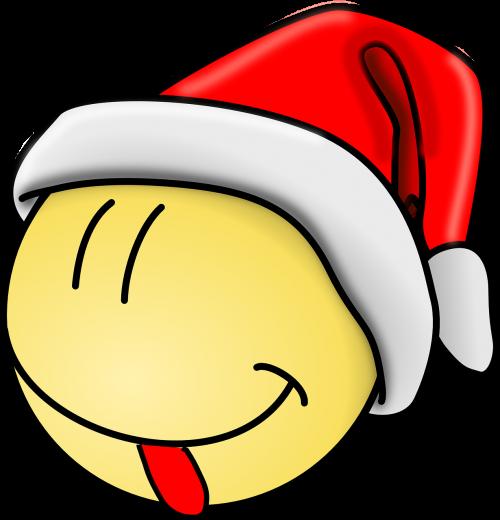smiley santa tongue