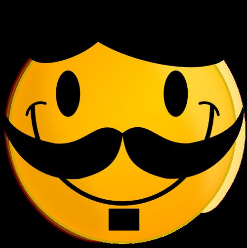 smiley moustache happy